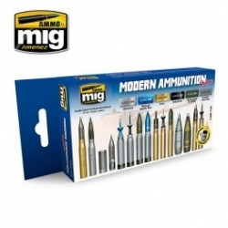 MAQUETTE SET PEINTURE MIG 7129 -MODERN AMMUNITION COLORS
