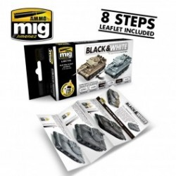 MAQUETTE SET PEINTURE MIG 7128 -BLACK AND WHITE
