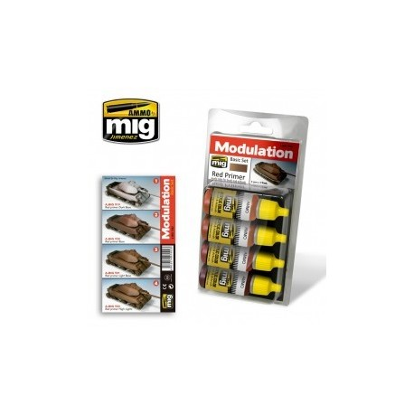 MAQUETTE PEINTURE - MODULATION SET MIG 7002 - RED PRIMER