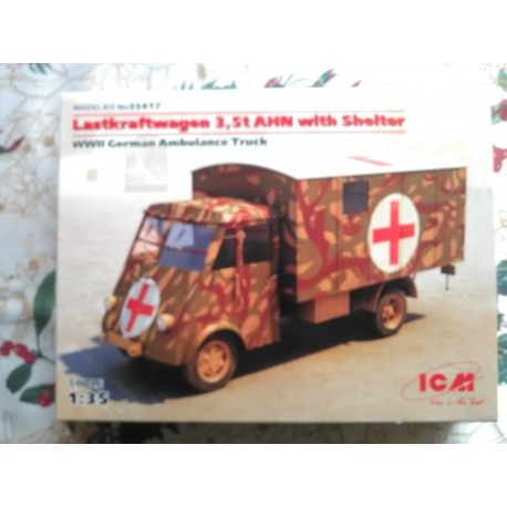 MAQUETTE ICM - LASTKRAFTWAGEN 3.5 T WITH SHELTER - ECHE 1/35 - WWII GERMAN