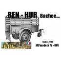 MAQUETTE RESINE JAPMODELS - REMORQUE BEN HUR BACHEE - ECH 1/72 GMC DODGE WWII