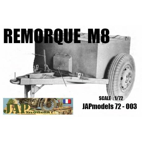 MAQUETTE RESINE JAPMODELS - REMORQUE M8 - ECH 1/72 - WWII - US - DODGE GMC HT JEEP