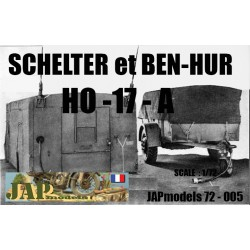 MAQUETTE RESINE JAPMODELS - SCHELTER HO -17 A et BEN HUR - ECH 1/72 - WWII - US - DODGE GMC HT JEEP