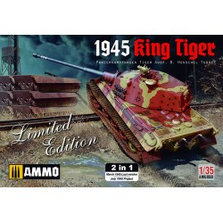 MAQUETTE MIG AMMO 8500 KING TIGER - 2 VERSIONS 1945 - EDITION LIMITEE - SCALE 1/35 - WWII