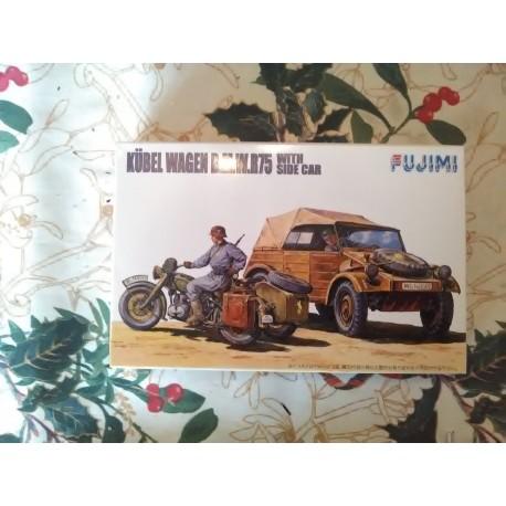 MAQUETTE FUJIMI - KUBEL WAGEN et BMW -ECH 1/76- REF 761053 - KUBEL - WWII -
