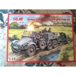 MAQUETTE ICM -KRUPP L2H143 KFZ -69 & PAK 36 - ECH 1/72 - GERMAN - WWII