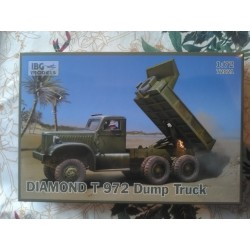MAQUETTE IBG MODELS - DIAMOND T 972 DUMP TRUCK - 72021US - ECH 1/72 - WWII DODGE JEEP GMC US