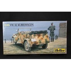 MAQUETTE HELLER VW 82 KUBELWAGEN- 81106 - ECH 1/35 - WWII - 2DB US - GERMAN